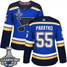 Colton Parayko Women's St.Louis Blues Royal Home 2019 Champions Patch Jersey