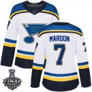 Women's St. Louis Blues Patrick Maroon White Away 2019 Champions Patch Jersey