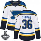 Women's St. Louis Blues Robert Thomas White Away 2019 Champions Patch Jersey