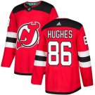 New Jersey Devils #86 Jack Hughes Red Stitched Jersey