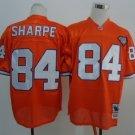 Men's Broncos 84 Shannon Sharpe Orange 75TH Throwback  Stitched Jersey