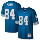 Men's Lions 84 Herman Moore M&N Blue 1996 Retired Player Blue Stitched Jersey