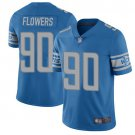 Men's Lions 90 Trey Flowers Blue Limited Stitched Jersey