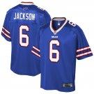 Men's Buffalo Bills 6 Tyree Jackson Pro Line Blue Game Stitched Jersey