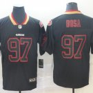 Men's 49ers 97 Nick Bosa Black Shadow Legend Limited Stitched Jersey