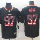 Men's 49ers 97 Nick Bosa Black USA Flag Fashion Limited Stitched Jersey