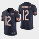 Men's Bears 12 Allen Robinson II Navy 100th Anniversary Limited Stitched Jersey