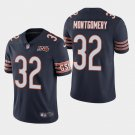 Men's Bears 32 David Montgomery Navy 100th Anniversary Limited Stitched Jersey