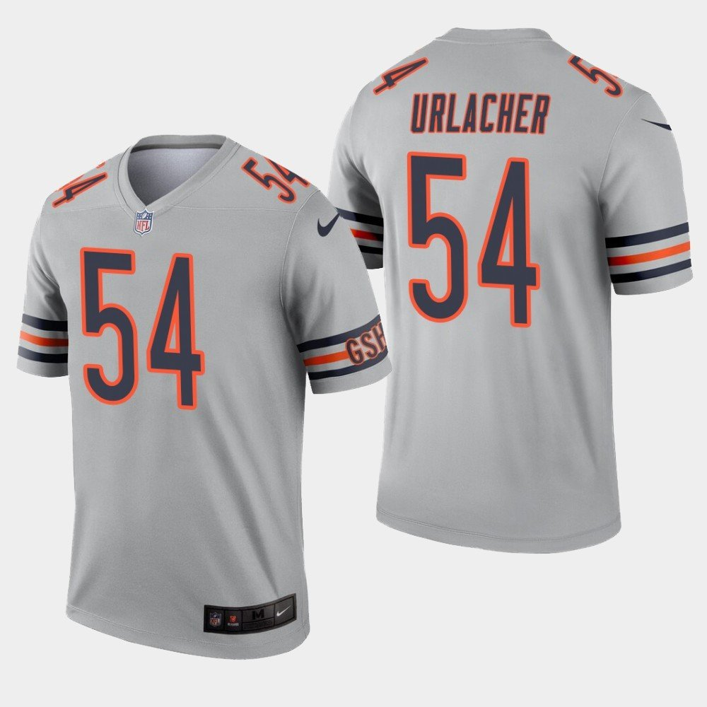 Men's Bears 54 Brian Urlacher Sliver Inverted Legend Stitched Jersey