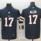 Men's Bills 17 Josh Allen Navy Inverted Legend Stitched Jersey