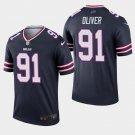Men's Bills 91 Ed Oliver Navy Inverted Legend Stitched Jersey