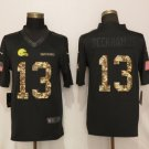 Men's Browns 13 Odell Beckham Jr Black Camo Salute to Service Limited Stitched Jersey