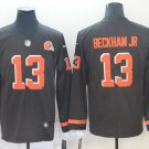 Men's Browns 13 Odell Beckham Jr Brown Long Sleeve Limited Stitched Jersey