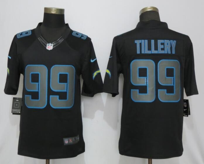 Men's Chargers 99 Jerry Tillery Black Impact Limited Stitched Jersey