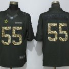 Men's Cowboys 55 Leighton Vander Esch Anthracite Salute To Service Limited Jersey