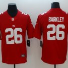 Men's Giants 26 Saquon Barkley Red Inverted Legend Stitched Jersey
