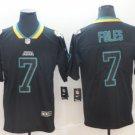 Men's Jaguars 7 Nick Foles Black Shadow Legend Limited Stitched Jersey