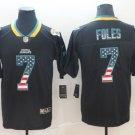 Men's Jaguars 7 Nick Foles Black USA Flag Limited Stitched Jersey