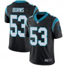 Men's Panthers 53 Brian Burns Black Limited Stitched Jersey