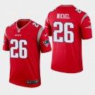 Men's Patriots 26 Sony Michel Red Inverted Legend Stitched Jersey