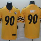 Men's Pittsburgh Steelers 90 T.J. Watt  Inverted Legend Gold  MenStitched Jersey