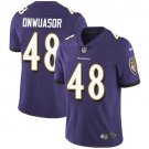 Men's Ravens 48 Patrick Onwuasor Purple Limited Stitched Jersey