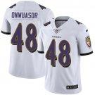 Men's Ravens 48 Patrick Onwuasor White Limited Stitched Jersey