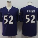 Men's Ravens 52 Ray Lewis Purple Limited Stitched Jersey