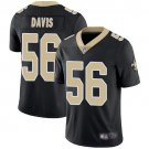 Men's Saints 56 DeMario Davis Black Limited Jesey