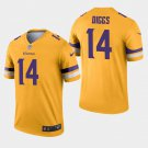 Men's Vikings 14 Stefon Diggs Gold Inverted Legend Stitched Jersey
