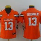 Women's Browns 13 Odell Beckham Jr Orange Limited Stitched Jersey