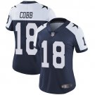 Women's Cowboys 18 Randall Cobb Navy Throwback Limited Stitched Jersey