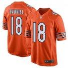 Men's Chicago Bears 18 Taylor Gabriel Orange Stitched Jersey