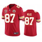 Men's Chiefs 87 Travis Kelce Red 60 Season Patch Stitched Jersey