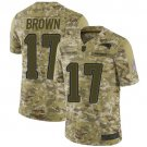 Men's Patriots 17 Antonio Brown Camo 2018 Salute To Service Limited Stitched Jersey