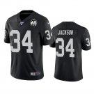 Men's Oakland Raiders 34 Bo Jackson Black Black 60th Anniversary Stitched Jersey