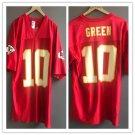 Men's Reebok Kansas City Chiefs10 Trent Green Red Stitched Jersey