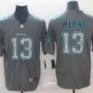 Men's Dolphins 13 Dan Marino Gray Static Limited Stitched Jersey