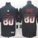 Men's San Francisco 49ers 80 Jerry Rice Black 2019 Smoke Fashion Stitched Jersey