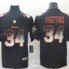 Men's Chicago Bears 34 Walter Payton 2019 Black Smoke Fashion Stitched Jersey