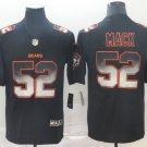 Men's Chicago Bears 52 Khalil Mack 2019 Black Smoke Fashion Stitched Jersey