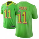 Men's Eagles 11 Carson Wentz City Edition Green Stitched Jersey