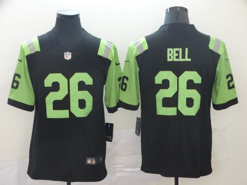 Men's Jets 26 Le'veon Bell City Edition Green Stitched Jersey