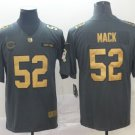 Men's Bears 52 Khalil Mack Gold Anthracite Salute To Service Limited Stitched Jersey