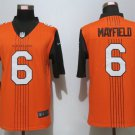 Men's Browns 6 Baker Mayfield City Edition Brown Stitched Jersey