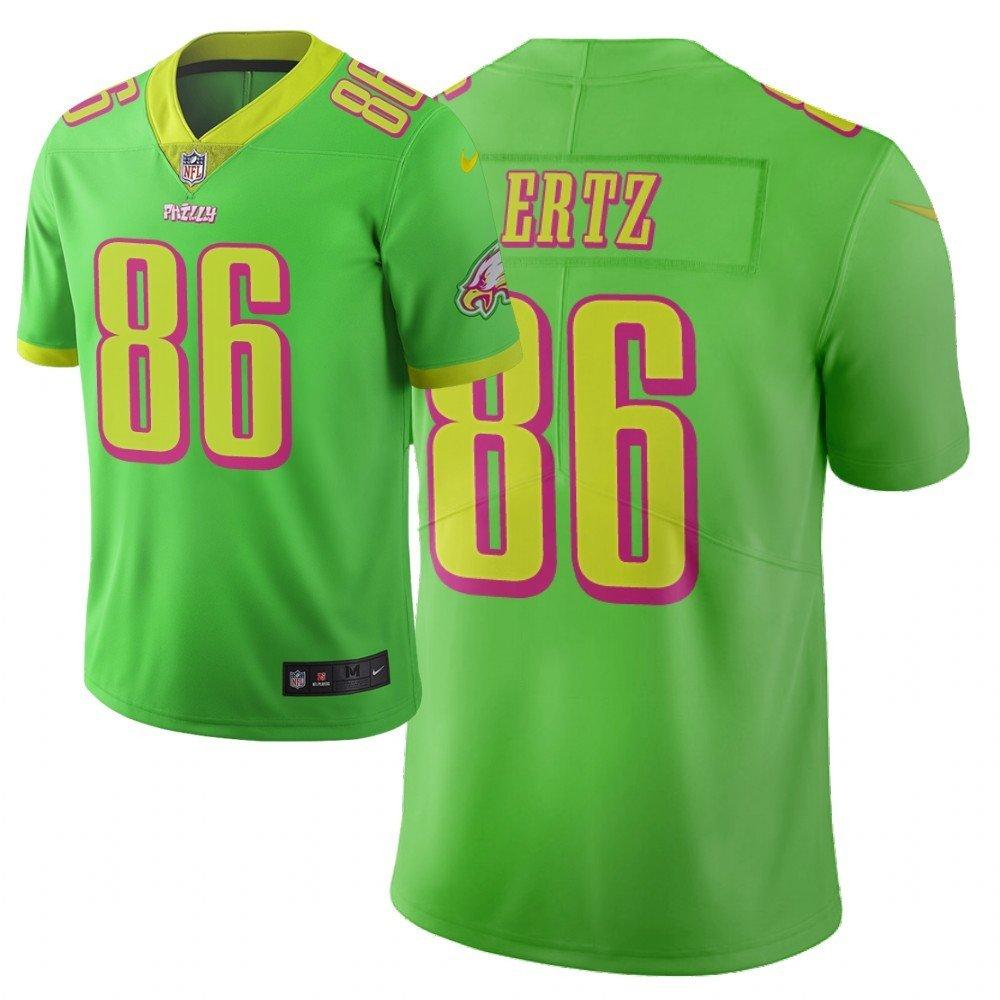 Men's Eagles 86 Zach Ertz City Edition Green Stitched Jersey