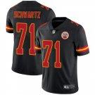Men's Chiefs 71 Mitchell Schwartz Black Limited Stitched Jersey