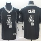 Men's Raiders 4 Derek Carr Black Drift Fashion Limited Stitched Jersey