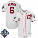 Men's 2019 World Series Nationals #6 Anthony Rendon White Home Stitched Jersey
