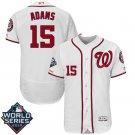 Men's 2019 World Series Nationals #15 Matt Adams White Home Stitched Jersey